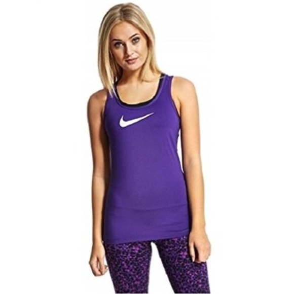 7ee9a14c Nike Women's Dri-FIT Stay Cool Pro Swoosh Tank Top